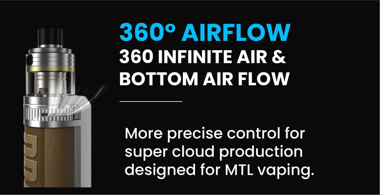Drag X Pro airflow